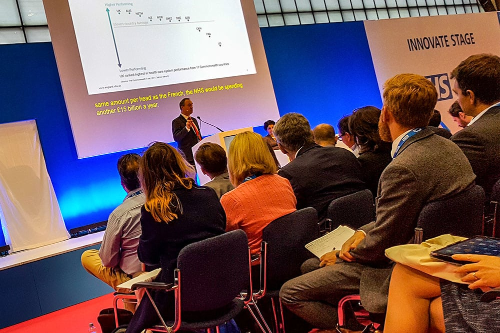 Matthew Swindells from NHS England speaks at Expo17NHS